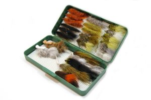 Large green double Nubby Tack fly box