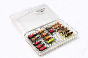 Medium clear single Nubby Tack fly box